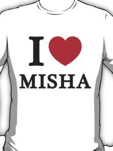 I Love Misha ( Red Heart ) T-Shirt
