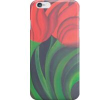 Red Tulip Diptych (Left) iPhone Case/Skin