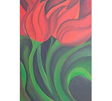 Red Tulip Diptych (Left) Photographic Print