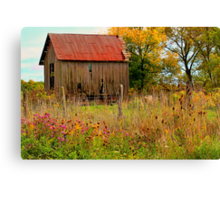 """ Meet You Behind the Wood Shed "" Canvas Print"