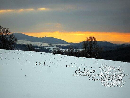 winter sunset by LoreLeft27