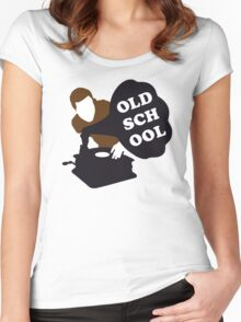 Old School DJ Women's Fitted Scoop T-Shirt