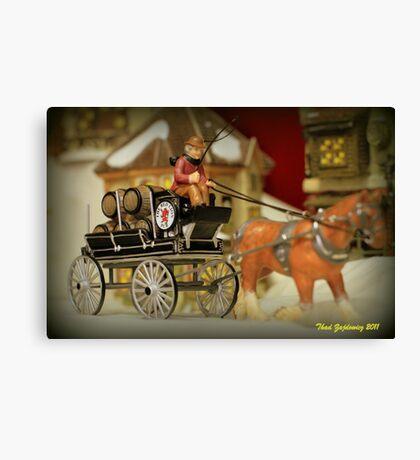 Beer Wagon Canvas Print