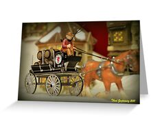 Beer Wagon Greeting Card