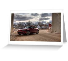 Mazda Miata HDR Greeting Card