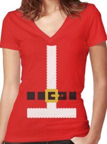 Santa Claus suit Women's Fitted V-Neck T-Shirt
