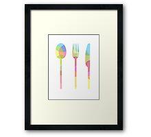 Let's Eat Framed Print