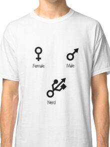 The 3 Gender Types (black Print) Classic T-Shirt