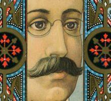 Optician Trade Card circa 1880 Sticker
