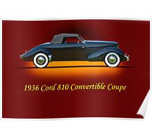 1936 Cord 810 Convertible w/ID Poster