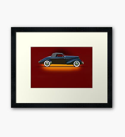 1936 Cord 810 Convertible Coupe w/o ID Framed Print