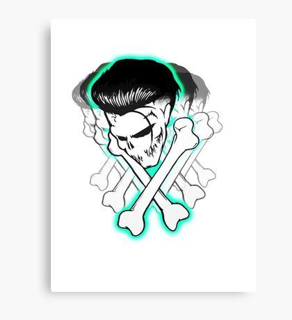 Ska Skull Aqua glow Canvas Print