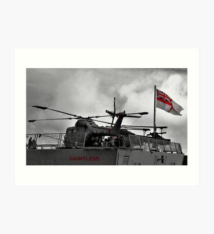 HMS Dauntless Lynx Art Print