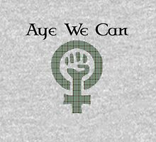 Aye We Can Burns Tartan Scottish Independence Tee Womens Fitted T-Shirt