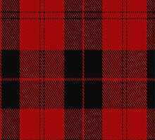 00566 Campbell Red (artefact) Tartan Fabric Print Iphone Case by Detnecs2013