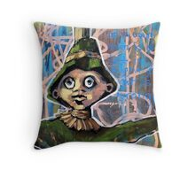 Straw Man Prelude In Pink (brainstemming.com) Throw Pillow
