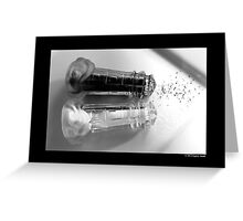Vintage Glass Lighthouse Shaped Salt And Pepper Shakers Greeting Card