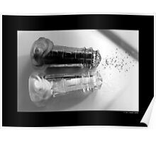 Vintage Glass Lighthouse Shaped Salt And Pepper Shakers Poster