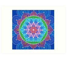 Lotus Flower of Life Art Print