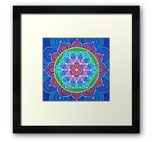 Lotus Flower of Life Framed Print