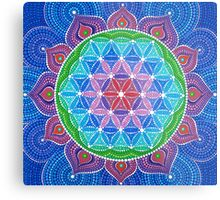 Lotus Flower of Life Metal Print