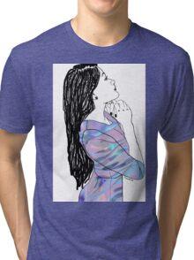Hologram Gal Tri-blend T-Shirt