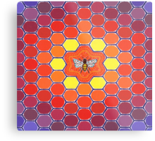 Bee Sacred Geometry Metal Print