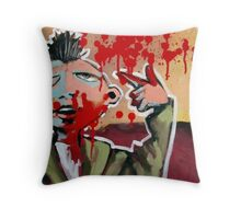 Taxi Driver Concerto In Red Throw Pillow