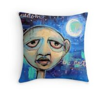 Freedom Nocturne In Blue Collar (brainstemming.com) Throw Pillow