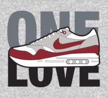 Air Max One Love (red) by strummerblue