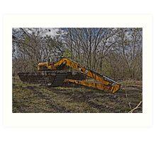 Swamp Excavator Art Print