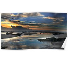 Refelctions at sunrise Poster
