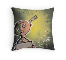 Discovery Prelude In Green (brainstemming.com) Throw Pillow