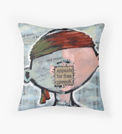 Pragmatic Rhapsody In Gray (brainstemming.com) Throw Pillow