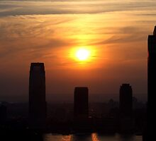 Jersey City Sunset by tomduggan