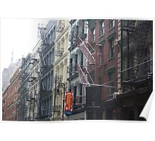 SoHo Fire Escapes Poster