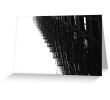 Chicago Fire Escape Greeting Card