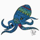 Octopus in Sharpie  by JasmineMDeLeon