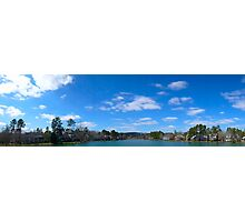 Lake View Panorama  Photographic Print