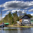 H.A. Burnham Boatyard by Monica M. Scanlan