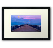 Ghost Rider at New Brighton Pier in Christchurch, New Zealand Framed Print
