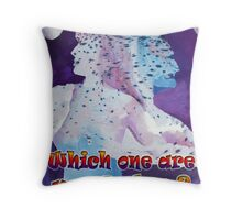 DUAL PERSONALITY Throw Pillow