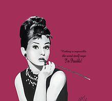 Audrey Hepburn Pink by fairyl