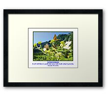 Butterflys and Achievement Framed Print