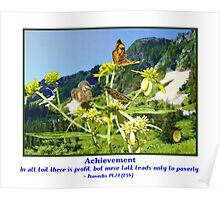 Butterflys and Achievement Poster