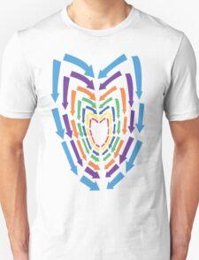 (Arrows) Colourful Heart Unisex T-Shirt