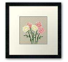 Romantic roses  Framed Print