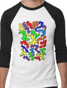 (Arrows) Colourful Men's Baseball ¾ T-Shirt