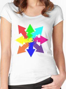 (Arrows) Swirl Women's Fitted Scoop T-Shirt