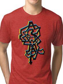(Arrows) Logo 3D Colours Tri-blend T-Shirt